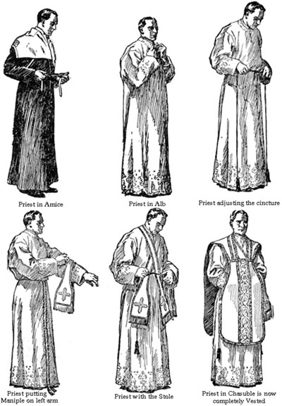 What are the traditional Latin Mass vestments?