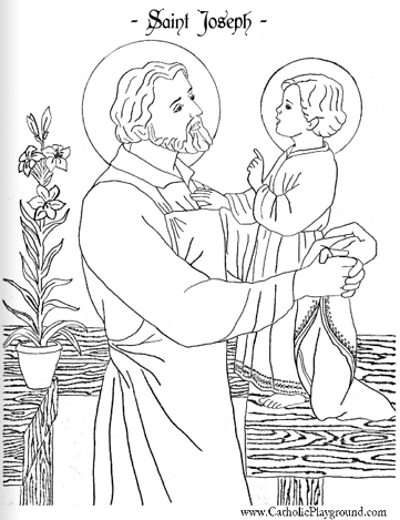 Saint Joseph coloring page: March 19th