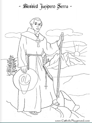 Blessed Junipero Serra coloring page: July 1st
