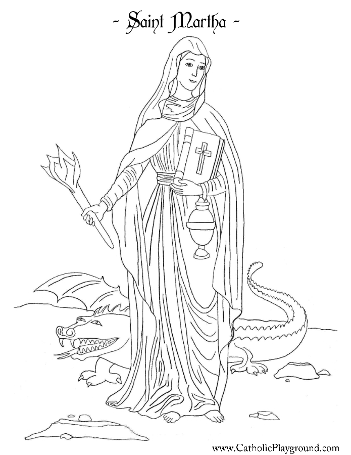 Martha Mary And Lazarus Colouring Pages Sketch Coloring Page