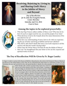 Center Moriches Day of Recollection April 16
