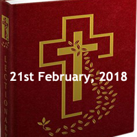 Wednesday of the First Week in Lent