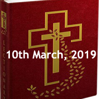 Catholic Readings for March 10 2019 - First Sunday of Lent