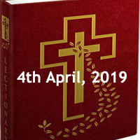 Catholic Daily Readings and Daily Reflections for Thursday of the Fourth Week of Lent - 4th April 2019 - Year C
