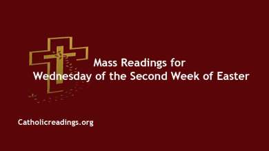 Catholic Daily 14th April 2021 Mass Reading Online Wednesday