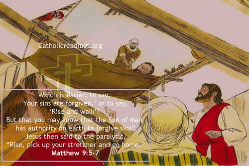 Rise, Pick up Your Stretcher and Go Home - Matthew 9:1-8, Luke 5:17-26 - Bible Verse of the Day