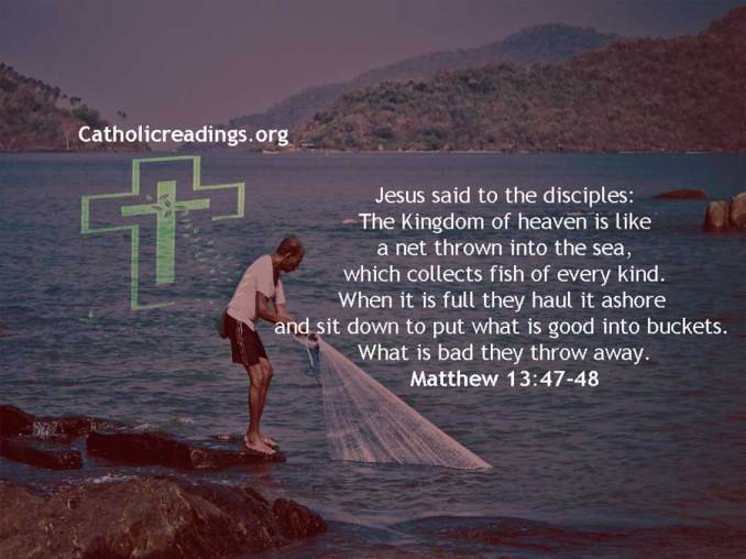 The Kingdom of Heaven is Like a Net Thrown into the Sea - Bible Verse of the Day - Matthew 13:44-53