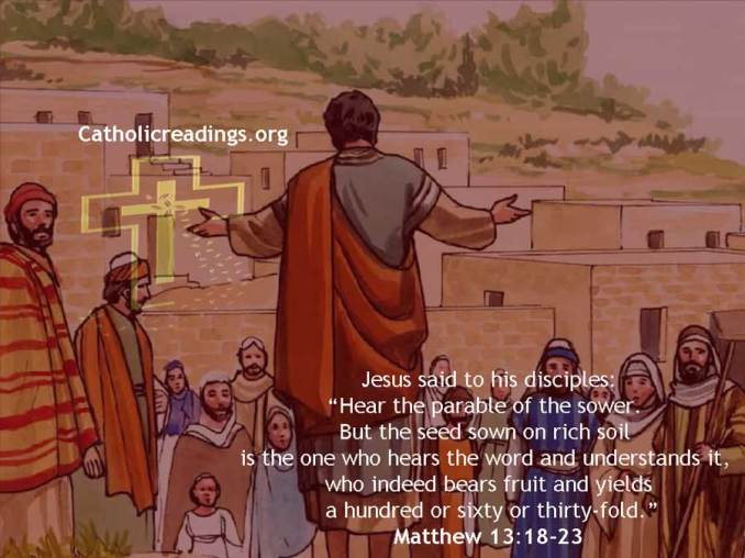 The Parable of the Sower - Matthew 13:18-23, Mark 4:1-20, Luke 8:4-15 -  Bible Verse of the Day
