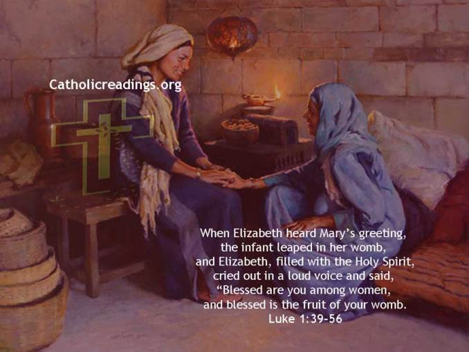Blessed are you among women, and blessed is the fruit of your womb - Bible Verse of the Day