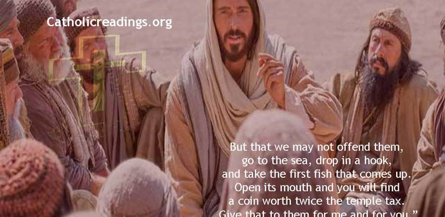Jesus Miracle of The Coin in the Fish's Mouth - Matthew 17:22-27 - Bible Verse of the Day
