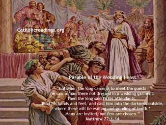 Parable of the Wedding Feast/Banquet - Matthew 22:1-14 - Bible Verse of the Day