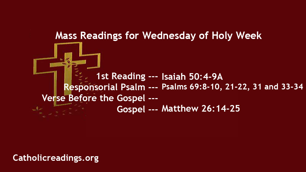 Catholic Daily Mass Reading Online 31st March 2021