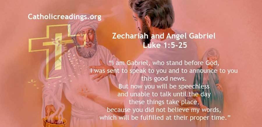 Zechariah and Angel Gabriel - Luke 1:5-25 - Bible Verse of the Day