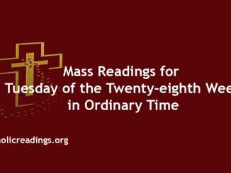 Mass Readings for Tuesday of the Twenty-eighth Week in Ordinary Time