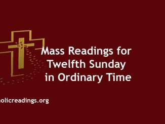 Mass Readings for Twelfth Sunday in Ordinary Time