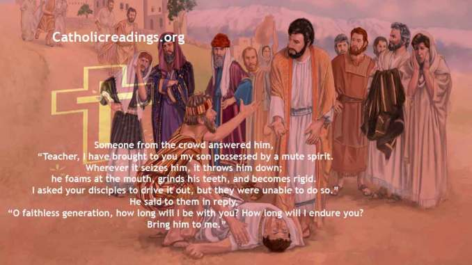 Healing of the Boy Possessed By a Demon - Mark 9:14-29, Matthew 17:14-20, Luke 9:37-43 - Bible Verse of the Day