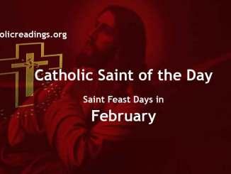 Catholic Saint Feast Days in February