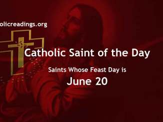 List of Saints Whose Feast Day is June 20 - Catholic Saint of the Day