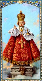 Infant Jesus of Prague holy card