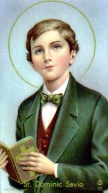 Saint Dominic Savio, prayer card, artist unknown