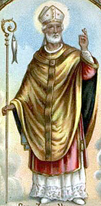 Italian holy card of Saint Zeno of Verona, date unknown, artist unknown