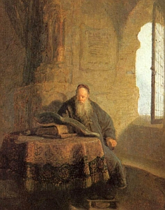 Saint Anastasius of Sinai by Rembrandt
