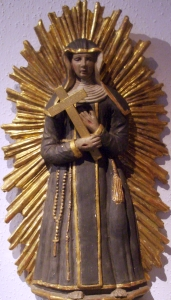 photograph of a statue of Blessed Eliesabeth Bona, Städtisches Museum, Kornhaus, Bad Waldsee, sculptor unknown; photograph taken in October 2005 by Andreas Praefcke; swiped off the Wikipedia web site