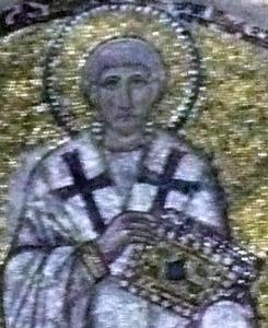 Saint Ignatius of Constantinople, as portrayed in the Hagia Sophia in Constantinople
