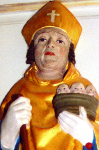 photograph of a statue of Saint Sigfried of Sweden; sculptor unknown; photographed by Klafui; swiped off the Wikipedia web site
