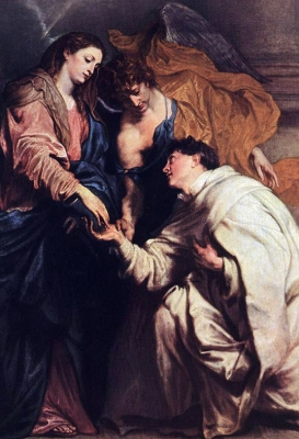detail from 'Vision of Blessed Joseph Herman' by Anthony Van Dyck, 1629, Kunsthistorisches Museum, Vienna, Austria