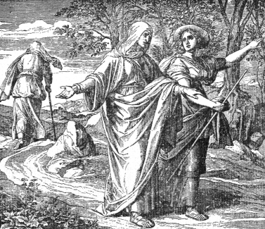 illustration of 'The Faithfulness of Ruth', artist unknown; taken from 'My Bible History'
