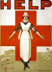 World War I recruiting poster for nurses
