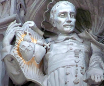detail of a photograph of St John Eudes at St Peter's Basilica in Vatican City; taken by Mary Harrsch; swiped off her flickr site