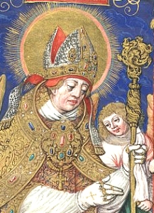 16th century illustration of Saint Stanislaus of Cracow; swiped off the Wikipedia web site