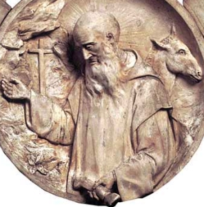 photograph of a medallion by Giovanni Scrivo (1868-1933); Museo della Certosa, Serra San Bruno, Italy; swiped off the Wikipedia web site