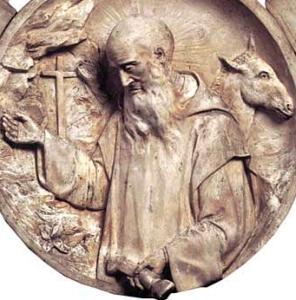 medallion of Blessed William of Fenoli, by Giovanni Scrivo; Museo della Certosa, Serra San Bruno, Italy; swiped from Wikimedia Commons