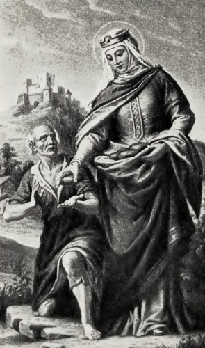 Saint Elizabeth and a Beggar