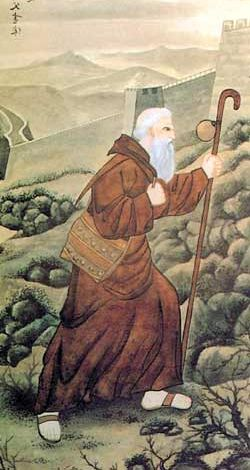 detail of a Chinese holy card of Archbishop John of Montecorvino, date and artist unknown; swiped from Santi e Beati