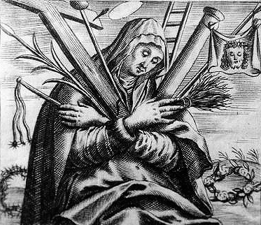 17th century print of Blessed Angela of Foligno; artist unknown; swiped from Wikimedia Commons