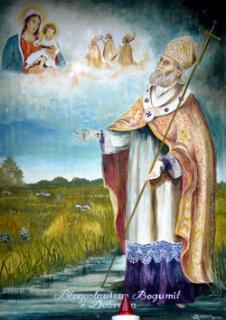 Blessed Bogumilus of Gniezno holy card, date and artist unknown