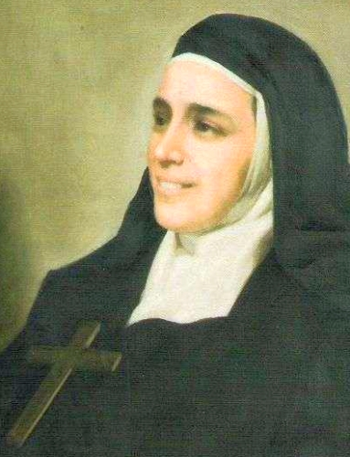 detail of a portrait of Blessed Giuseppina Catanea, date and artist unknown; photographed on 12 February 2012; swiped from Wikimedia Commons