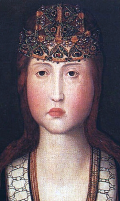 detail from a portrait of Blessed Jane of Portugal, c.1475, Convento de Jesus Aveiro, Portugal
