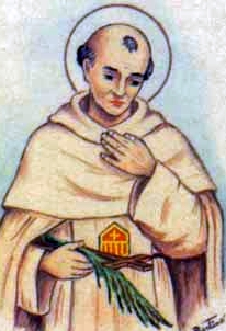 detail of an Italian holy card of Blessed Juan Solorzano by Bertoni, date unknown; swiped from Santi e Beati