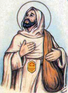 detail of an Italian holy card of Blessed Juan de Jesus by Bertoni, date unknown; swiped from Santi e Beati