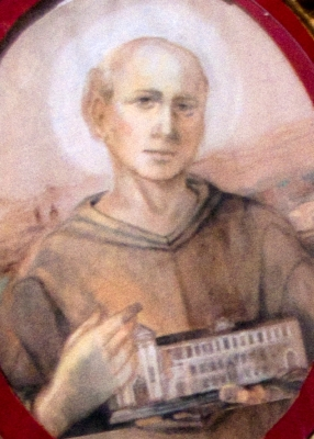 detail of a portrait of Blessed Mark of Montegallo, Church of San Giuliano-March, Vicenza, Italy; photographed on 21 September 2013 by Claudio Gioseffi; swiped from Wikimedia Commons