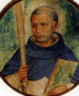 detail of a portrait of Blessed Nicola Paglia, date and artist unknown; swiped from Santi e Beati