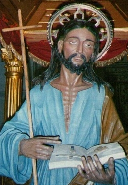 detail of a statue of Blessed Nicholas Politi, date and artist unknown; swiped from Santi e Beati