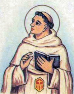 detail of an Italian holy card of Blessed Peter Sanchez by Bertoni, date unknown; swiped from Santi e Beati
