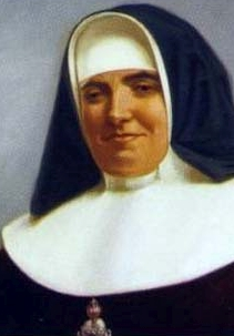 detail of an illustration of Blessed Petra María Victoria Quintana Argos, date and artist unknown; swiped from Santi e Beati