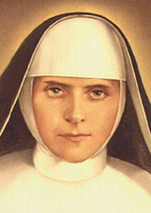 detail of the beatification portrait of Blessed Sancja Szymkowiak, swiped off the Vatican web site